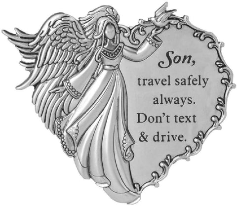 Son, Travel Safely Always. Don't Text and Drive. Visor Clip - Treehouse Gift & Home
