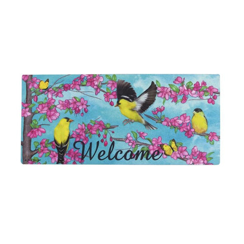 Spring Finches Sassafras Switch Mat - Treehouse Gift & Home