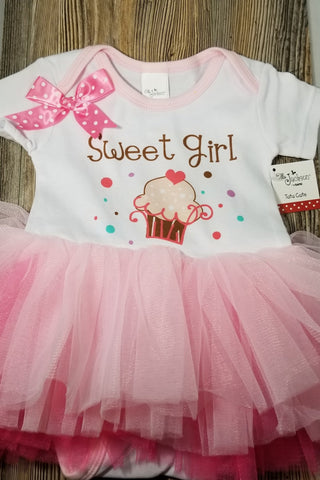 Sweet Girl Diaper Shirt Tutu - Treehouse Gift & Home