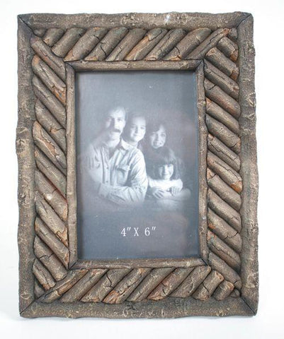 "Twig Look Picture Frame 4x6 9""H - Treehouse Gift & Home"