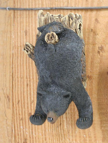 "Upside Down Bear & Pine Tree Hook 5""H - Treehouse Gift & Home"