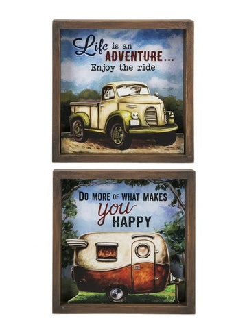 Vintage Shadow Box Plaques - Treehouse Gift & Home