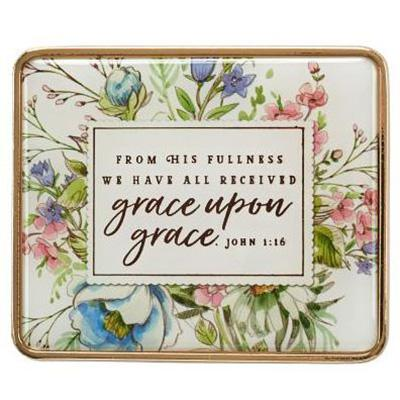 Visor Clip - Grace Upon Grace - John 1:16 - Treehouse Gift & Home