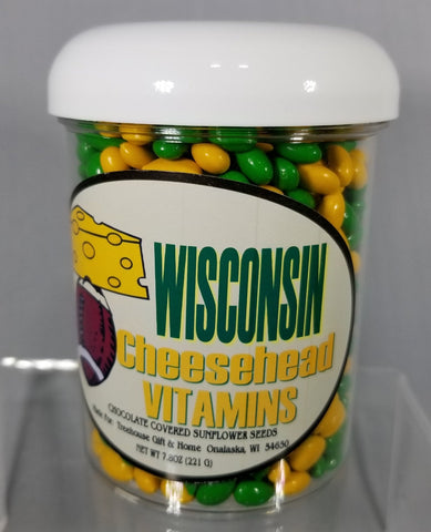 Wisconsin CHEESEHEAD VITAMIN, 12/cs - Treehouse Gift & Home