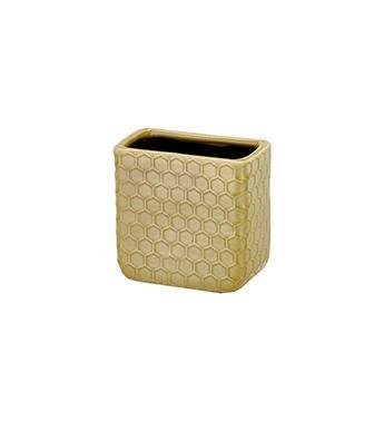 Yellow Rectangle Honeycomb Vase - Treehouse Gift & Home