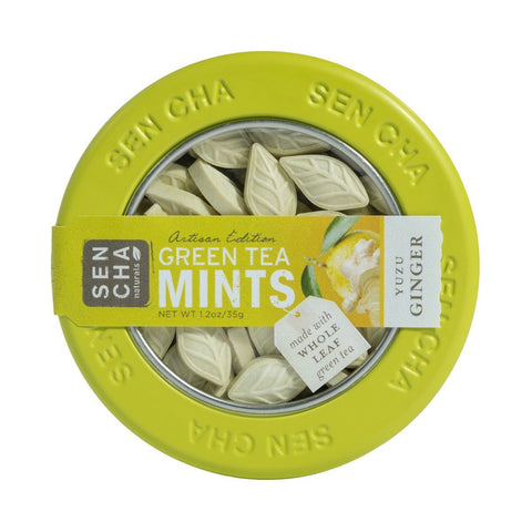 Yuzu Ginger Green Tea Mints (Canister) Treehouse Gift & Home