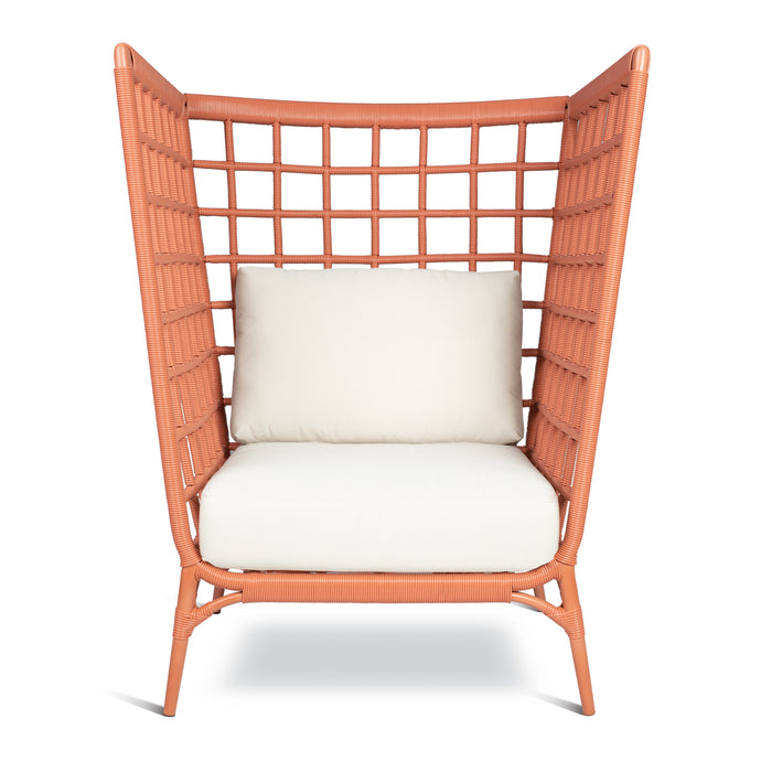 AVIVA HIGH LOUNGE CHAIR IN CORAL