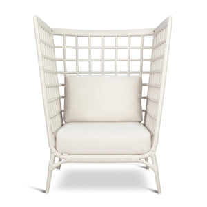 AVIVA HIGH LOUNGE CHAIR IN WHITE