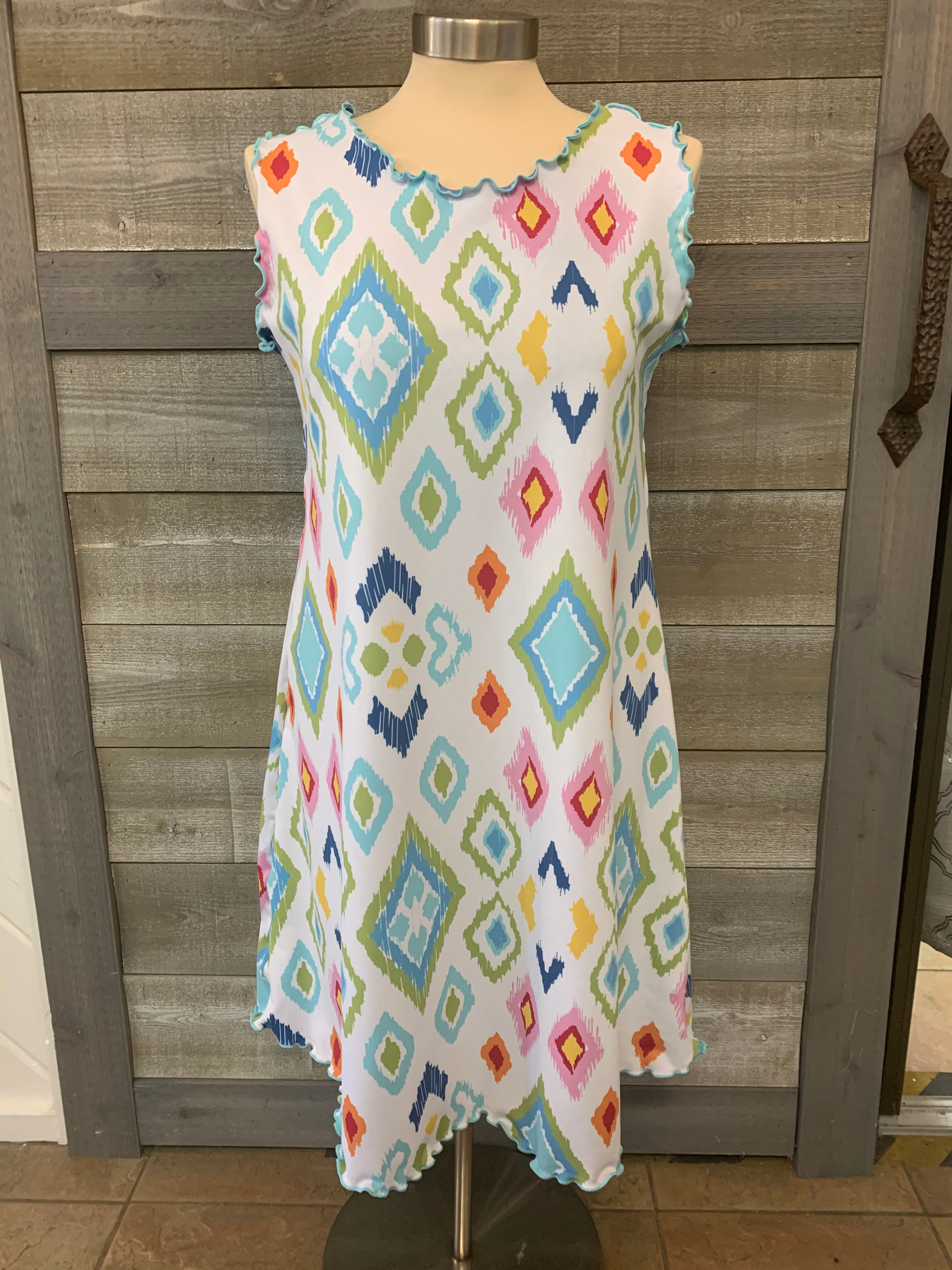 Diamond Print Reversible Dress