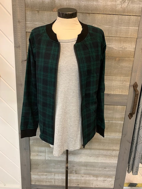 Stiped Color Block Cardigan with Pockets