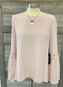 Pink Bell Sleeve