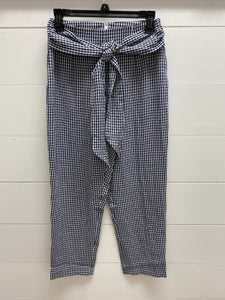 Blue and White Checkered Pants