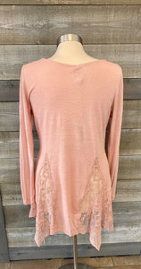 Soft Pink Lace Peak a Boo Tunic