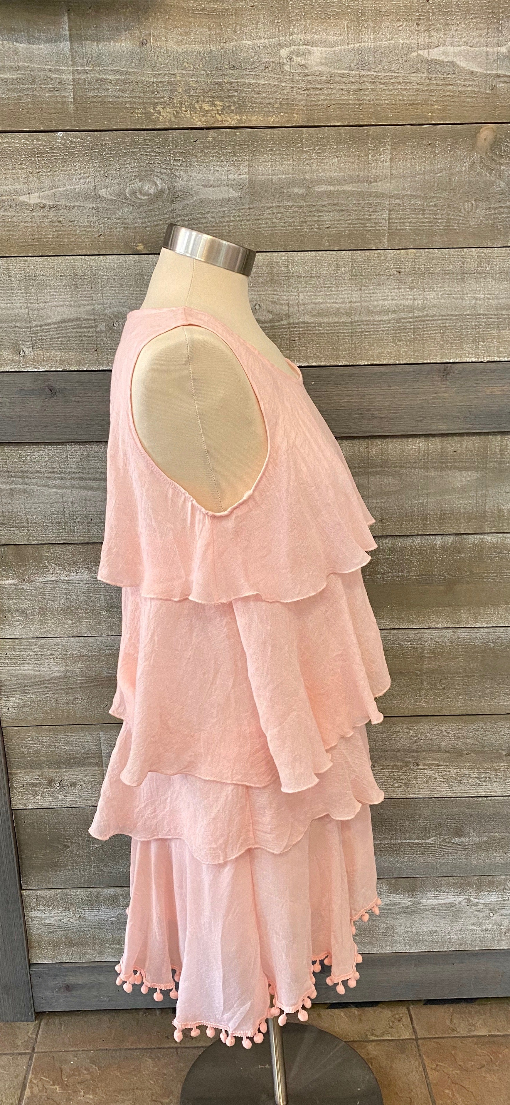 Light Pink Ruffle Tank