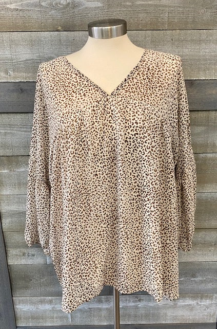 Lined Sheer Animal Print Top