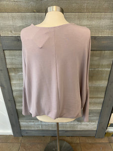 Mauve Loose Sleeve Sweater