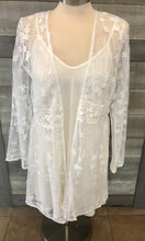 White Lace Long Sleeve Cardigan