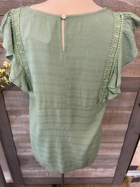 Bell Sleeve White Lace Blouse