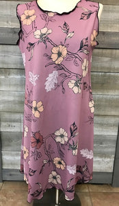 Mauve Floral Reversible Dress