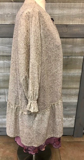 Tan Heather Cardigan
