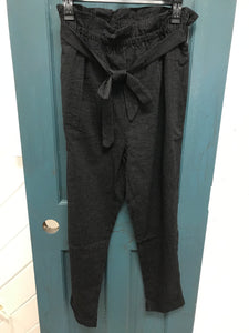 Flare Pant with Tie Belt