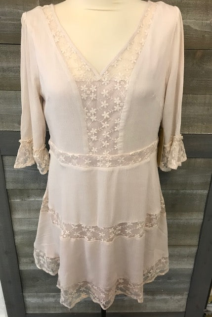 Ivory Lace Bell Sleeve Tunic