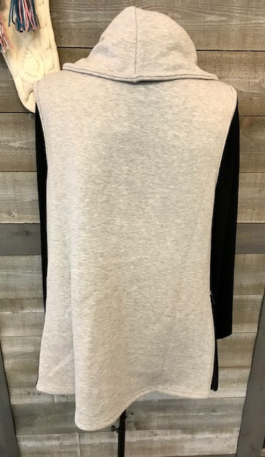 Cowl Neck Pull Over Vest