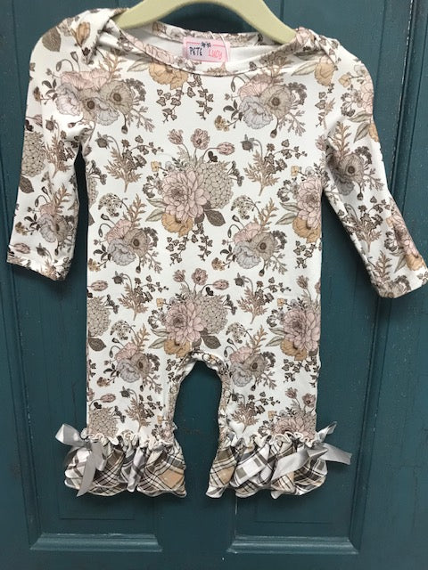 Girls Fall Romper