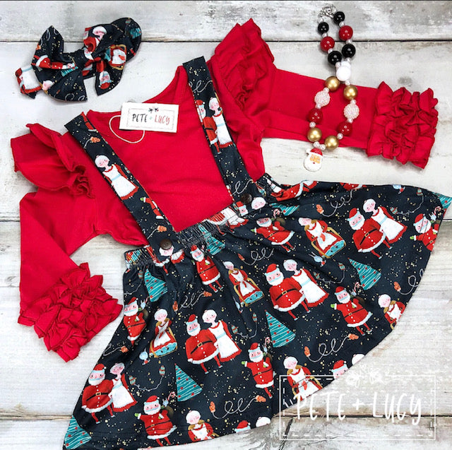 Santa Suspender Dress
