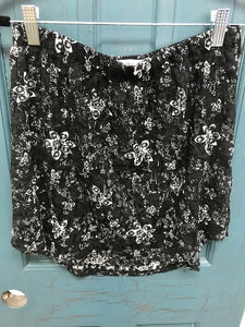 Black Floral Lace Shirt Extender