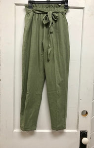 Sage Green Paper Bag Pants