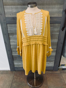 Mustard Long Sleeve Bubble Tunic