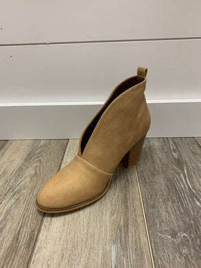 Wheat Open Front Bootie