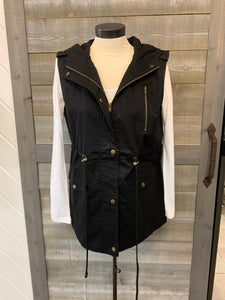 Fashion Vest with Hood