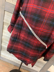 Long Sleeve Plaid Open Cardigan
