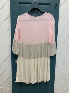 Pink Color Block Tunic
