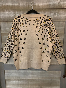 Cheetah Print Sweater