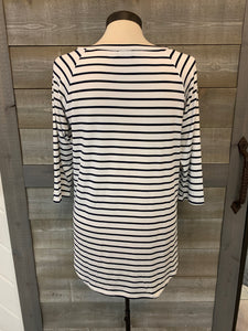 Navy/White Striped Raglan Top