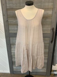 Flowy Pleated Tunic Dress