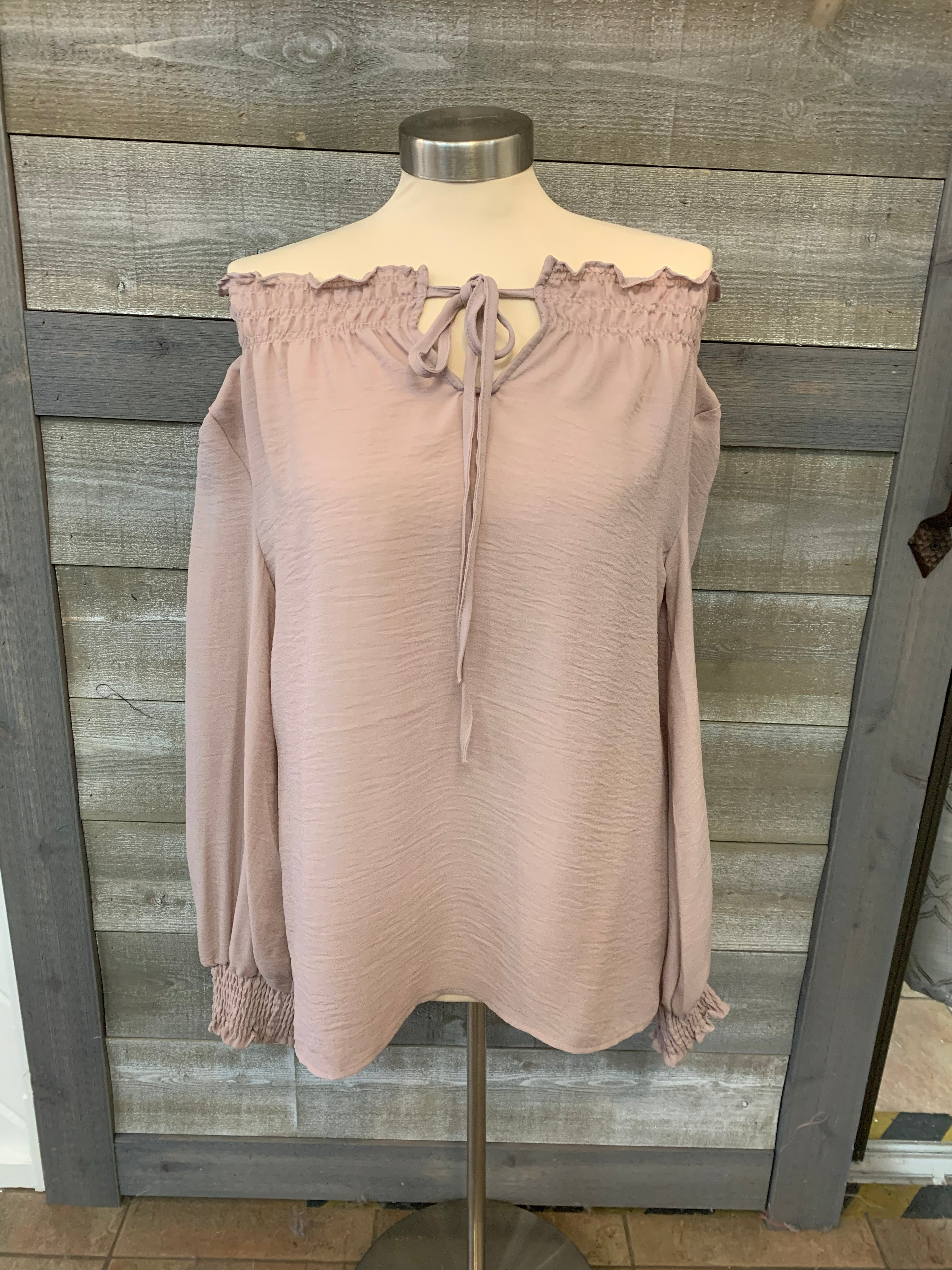 Multi-Wear Mauve Tie Top