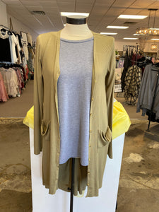 Olive Long Sleeve Cardigan