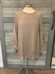 Brown Flare Long Sleeve