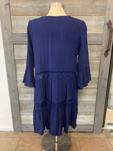 Navy Deep V Tunic