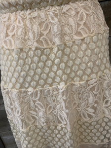 Off White Lace Detailed Dress