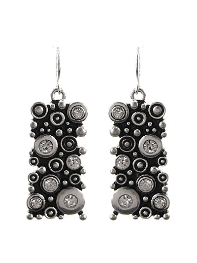 SILVER BUBBLE EARRINGS
