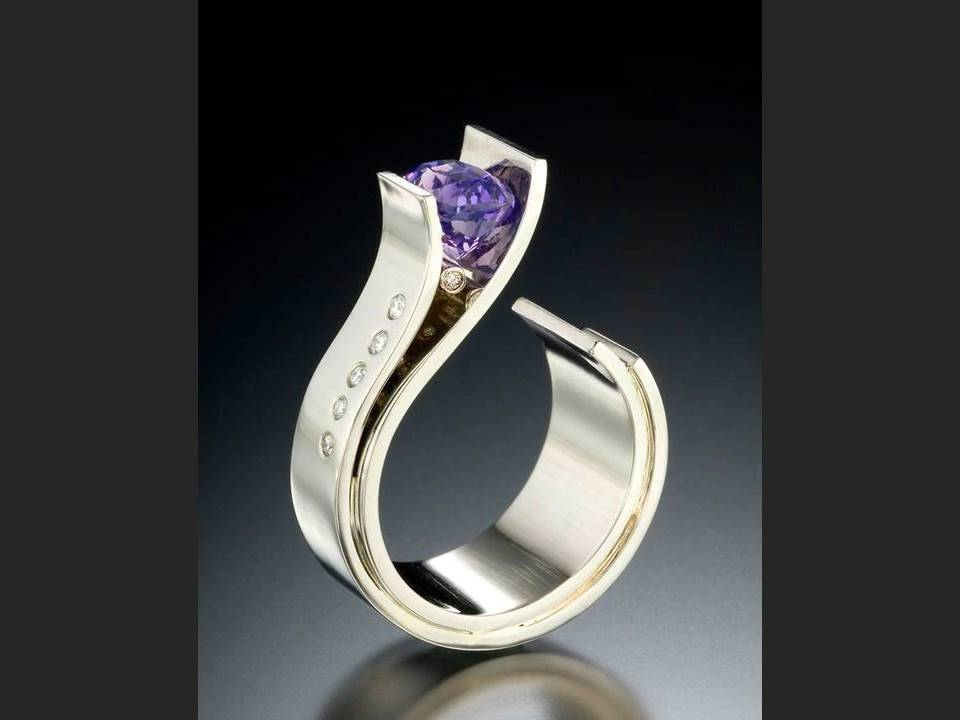 Amethyst Open Ring - Size 6 - Lunga Vita Designs