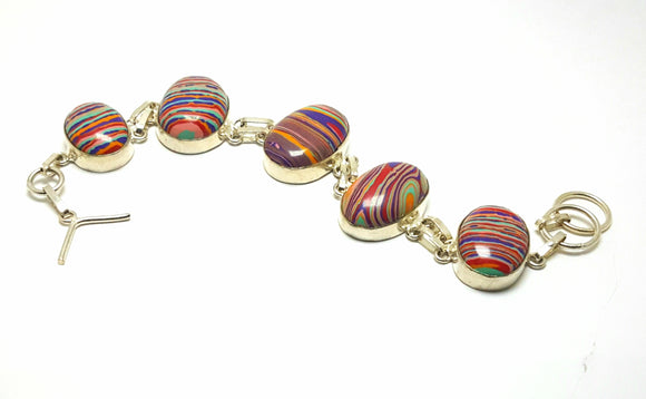 RAINBOW CALSILICA BRACELET WITH TOGGLE