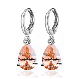 CLASSIC TEARDROP DANGLE EARRINGS | TOPAZ