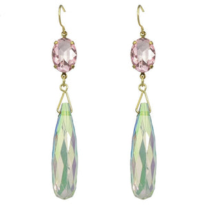 LONG GRACEFUL TEARDROP EARRINGS