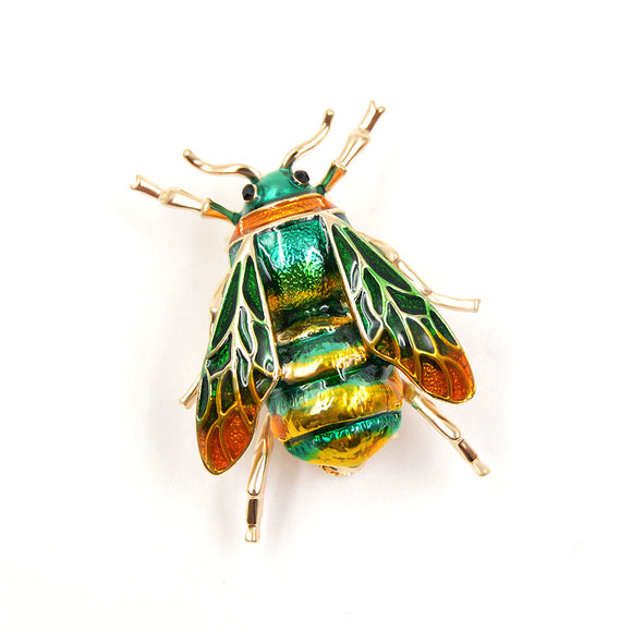 COLORFUL BEE BROOCH | GREEN